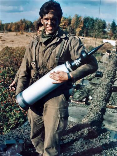 1986 A Esk 103 Verkbat Ritms vd Aker en Piebinga. Oefn schietserie en nog wat. Bedankt Johan Willemsen 23