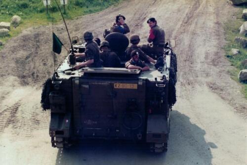 1986 A-Esk 103 Verkbat; Schietoefeningen tijdens schietserie Bergen Hohne. Foto's Huz I Paul Poelman (5)