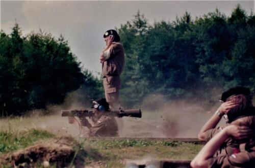1986 A Esk 103 Verkbat Schietoefeningen tijdens schietserie Bergen Hohne. Fotos Huz I Paul Poelman 6
