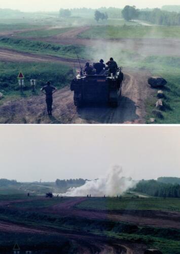 1986 A-Esk 103 Verkbat; Schietoefeningen tijdens schietserie Bergen Hohne. Foto's Huz I Paul Poelman (9)