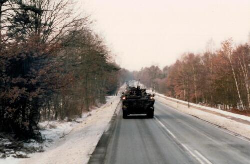 1986 A-Esk 103 Verkbat; Winterse taferelen. Foto's Huz I Paul Poelman (27)