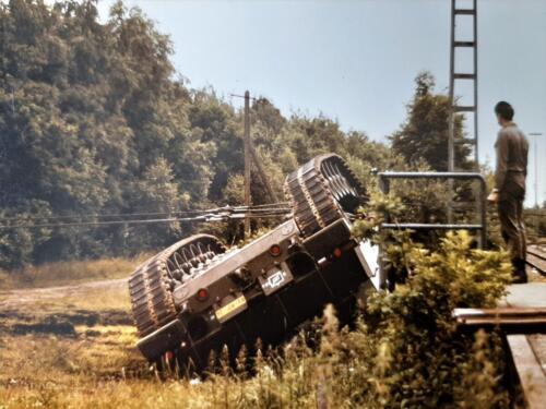 1986 SSV Esk 103 Verkbat Station Godenstedt BOG zet de Leop II B Esk weer recht. Inz. Peter van Wijk 3