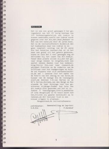1986 'Contact, wacht uit'... Kroniek van 25 jaar 103 Verkenningsbataljon 1