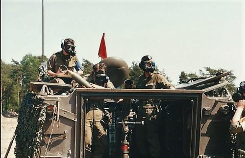 1988 1989 B Esk 103 Verkbat Schietserie Mortier 4.2 Inzender Martin Meijer 1