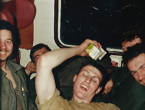 1988 1989 B Esk 103 Verkbat Tanktrein personencoupe rustpauze Inzender Martin Meijer 2