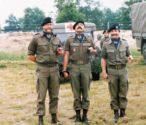 1988 De 3 Oppers van 103e Verkbat A Esk Henk de Klepper B Esk Pedro Haans en SSV Harry Schuurman