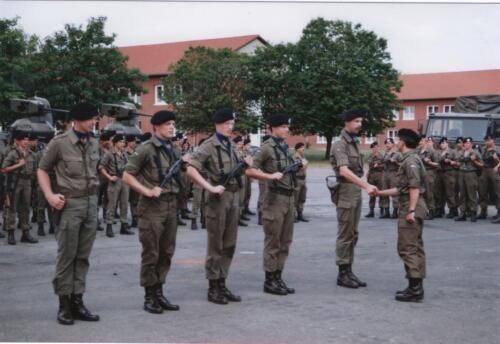 1989 07 03 B Esk 103 Verkbat Commando overdracht Ritm v Grinsven aan Ritm Bozuwa 1