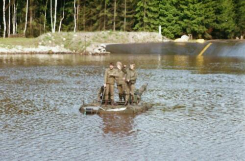 1989 103 Verkbat Doorwading Leop II verliep niet volgens plan. Foto Johan Hendriks