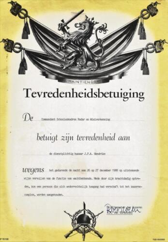 1989 SSV Esk 103 Verkbat. Fotos van Huz Johan Hendriks. Documenten etc 1