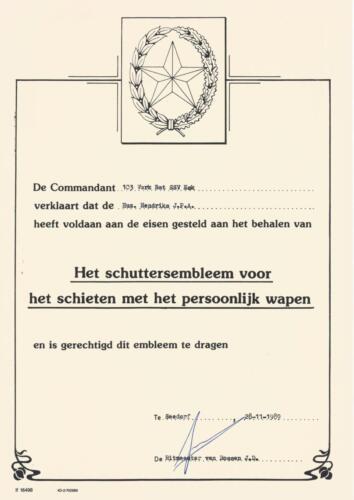 1989 SSV Esk 103 Verkbat. Fotos van Huz Johan Hendriks. Documenten etc 2