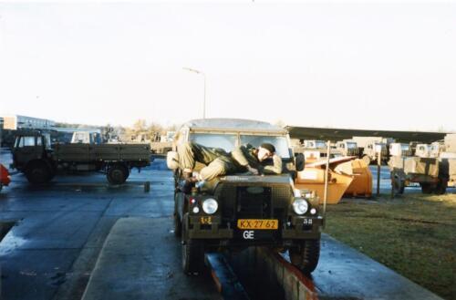 1989 SSV Esk 103 Verkbat. Fotos van de Landrover van Johan Hendriks 1