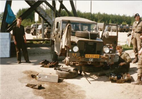 1989 SSV Esk 103 Verkbat. Fotos van de Landrover van Johan Hendriks 6