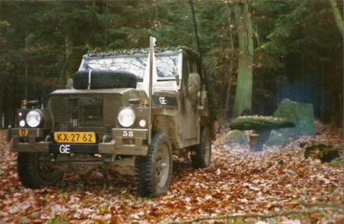 1989 SSV Esk 103 Verkbat. Fotos van de Landrover van Johan Hendriks 7