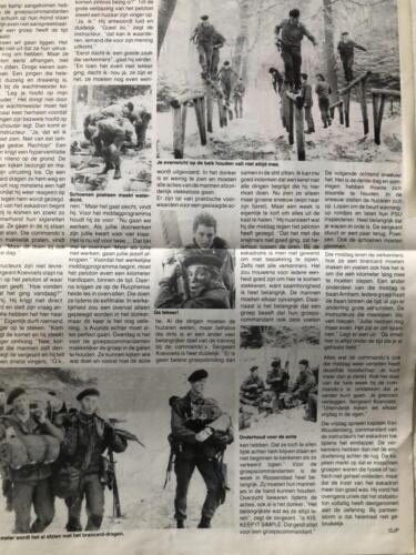 1990 A Esk 103 Verkbat Artikel Griffioen Bij de commandos Inz. Marcel Grandia 1