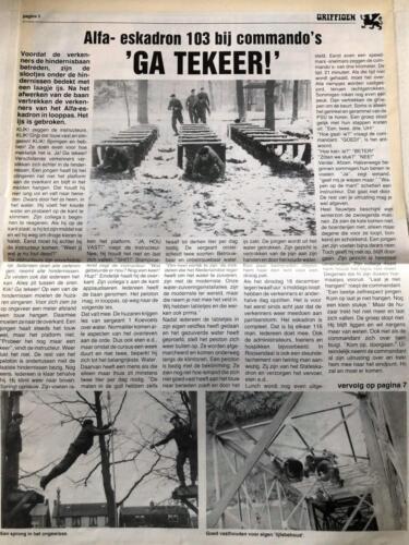 1990 A Esk 103 Verkbat Artikel Griffioen Bij de commandos Inz. Marcel Grandia 2