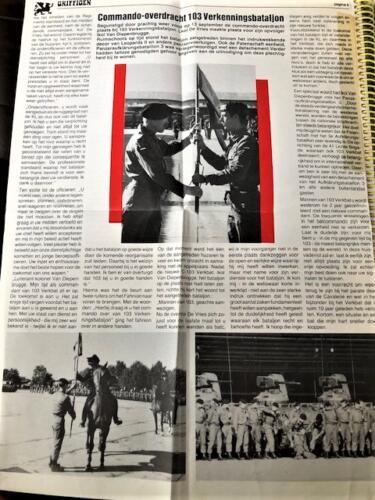 1991-09-13 103 Verkbat Artikel uit de 'Griffioen'; Lkol P de Vries draagt het commando over aan Lkol T van Diepenbrugge