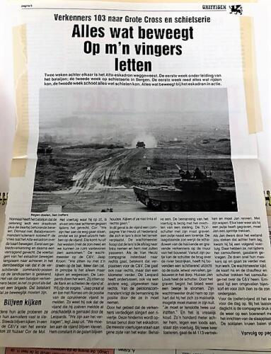 1991 A Esk 103 Verkbat Artikel Griffioen Grote Cross en schietserie Inz. Marcel Grandia