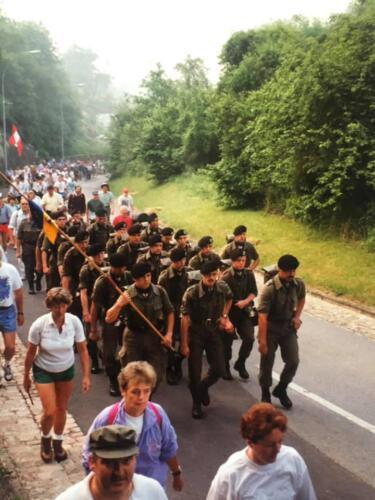 1993 103 Verkbat Deelname 4 daagse Nijmegen. Inz. Martijn Boeijnk.