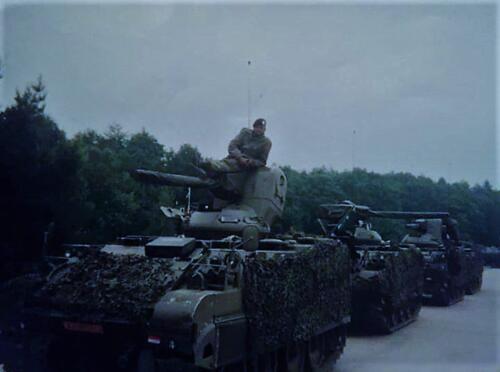 1993 A Esk 103 Verkbat Schietserie Bergen Hohne. Verkenners gereed voor actie