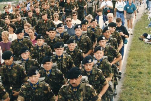 1993 B Esk 103 Verkbat lichting 92 7 Nijmeegse vierdaagse 1993 Inz. Guy Jeurissen