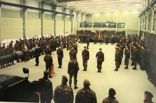 1995 103 Verkbat Beediging in de hal van 41 Hrtstcie ivm slecht weer. Inz Ad Koevoets