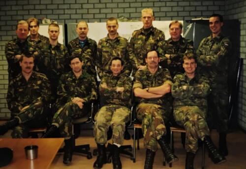 1995 103 Verkbat deel batstaf tijdens CPX oef. o.a. Lkol Johan Maj vd Dungen en inz. Maj Koevoets.