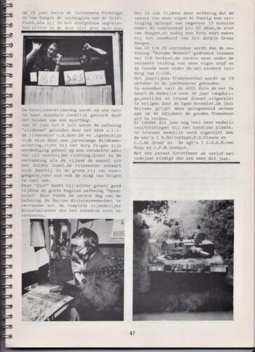 1986 'Contact, wacht uit'... Kroniek van 25 jaar 103 Verkenningsbataljon 47