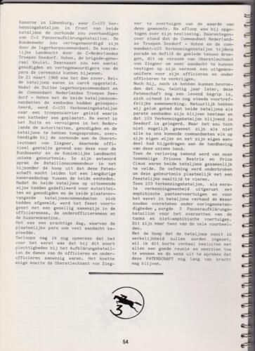 1986 'Contact, wacht uit'... Kroniek van 25 jaar 103 Verkenningsbataljon 54