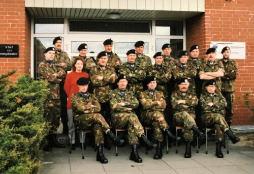 1996 103 Verkbat bat staf o.a. Lkol vd Bos Maj vd Dungen en Inz. Maj Koevoets.