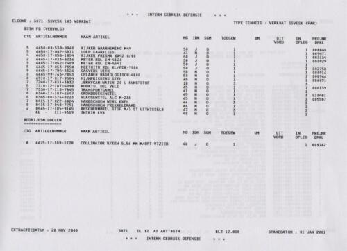 1996 2002 SSV Esk 103 Verkbat Elco 3071 5. Overzicht Materieel volgens OTAS 18