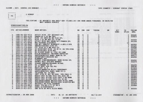 1996 2002 SSV Esk 103 Verkbat Elco 3071 5. Overzicht Materieel volgens OTAS 19