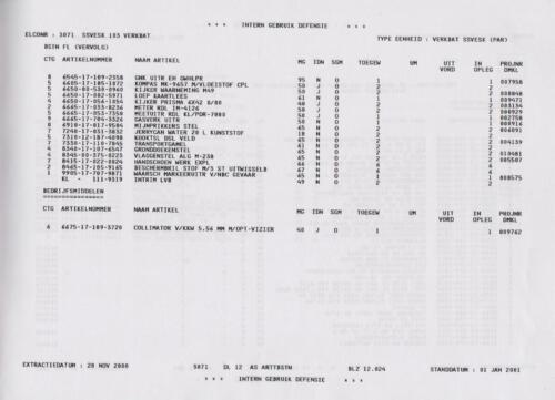 1996 2002 SSV Esk 103 Verkbat Elco 3071 5. Overzicht Materieel volgens OTAS 24
