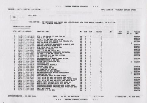 1996 2002 SSV Esk 103 Verkbat Elco 3071 5. Overzicht Materieel volgens OTAS 3