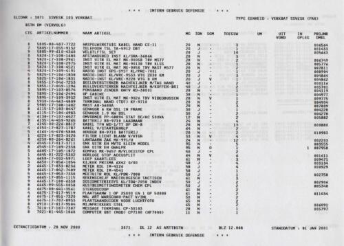 1996 2002 SSV Esk 103 Verkbat Elco 3071 5. Overzicht Materieel volgens OTAS 8