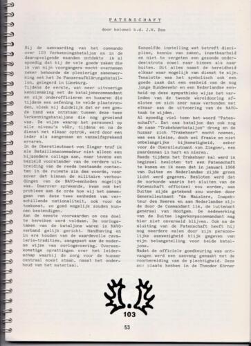 1986 'Contact, wacht uit'... Kroniek van 25 jaar 103 Verkenningsbataljon 53