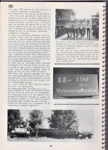 1986 'Contact, wacht uit'... Kroniek van 25 jaar 103 Verkenningsbataljon 48