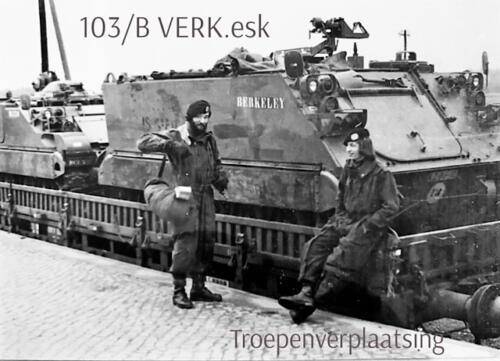 1974-1975 B-Esk 103 Verkbat; Per trein naar of van het oefengebied. Inz. Frans Homminga  (3)