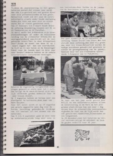 1986 'Contact, wacht uit'... Kroniek van 25 jaar 103 Verkenningsbataljon 41