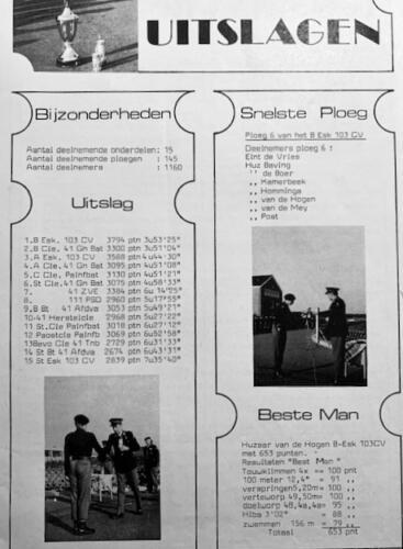 1974-1975 B-Esk 103 Verkbat; Wapenfeiten in 'De Griffioen'. Inzender Frans Homminga  (3)