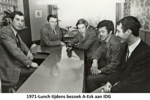 1971 A-Esk 103 Verkbat; Bezoek IDG; Lunch. Ritm R Meeder, Tlnt F Zeelenberg, Kntn Schopman en Schets