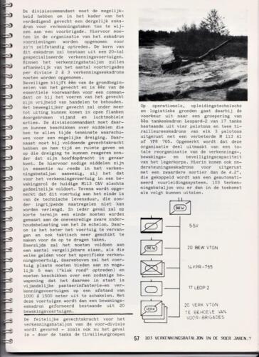 1986 'Contact, wacht uit'... Kroniek van 25 jaar 103 Verkenningsbataljon 57