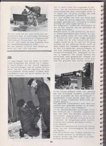 1986 'Contact, wacht uit'... Kroniek van 25 jaar 103 Verkenningsbataljon 44