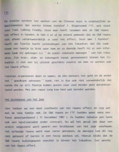 1986-1988 B-Esk Het Owi Pedro Haans effect (Para los Ninos) team Wmr I Fred Kerkhof 9