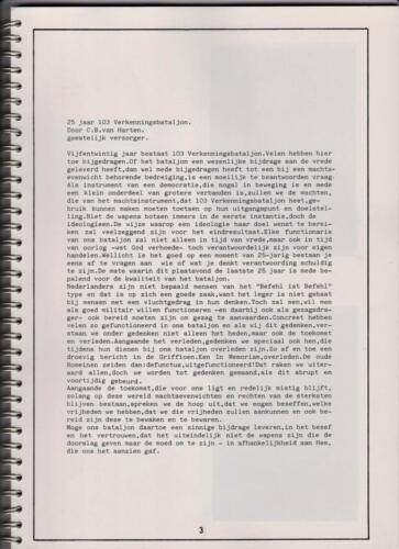 1986 'Contact, wacht uit'... Kroniek van 25 jaar 103 Verkenningsbataljon 3