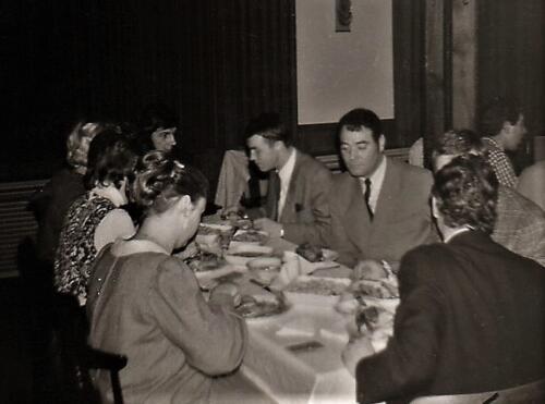 1970 B-esk 103 Verkbat; Diner met o.a. Wmr Kuijpers, Elnt Meeder en Owi Willem Dekker en JW Bergman
