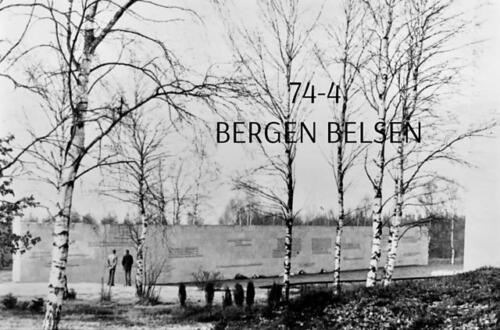 1974-1975 B-Esk li 103 Verkbat; Bezoek aan Bergen-Belsen. Inzender Frans Homminga  (2)