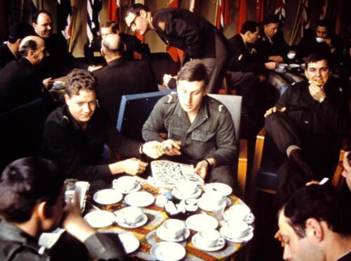 1966-1967 A-Esk 103 Verkbat; Onbekend maar wel veel kopjes. Uit het fotoarchief van Jan Stoffels