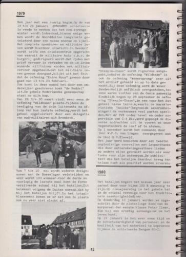 1986 'Contact, wacht uit'... Kroniek van 25 jaar 103 Verkenningsbataljon 42
