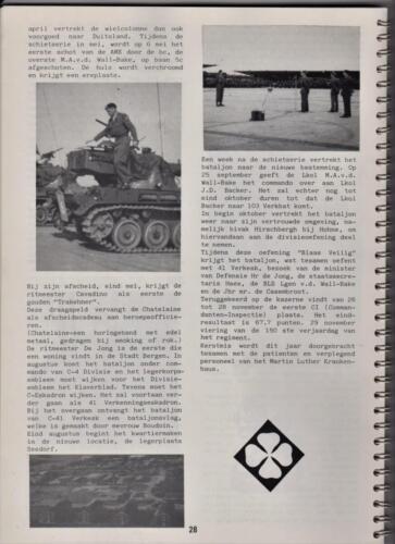 1986 'Contact, wacht uit'... Kroniek van 25 jaar 103 Verkenningsbataljon 28