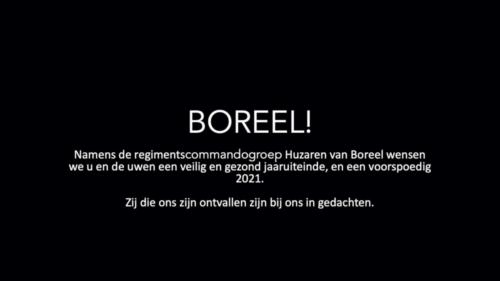 2020 11 25 Door Corona geen diner. Regimentsc Huzaren van Boreel Kol Hans v Dalen proost op de 207e verjaardag van Boreel 7